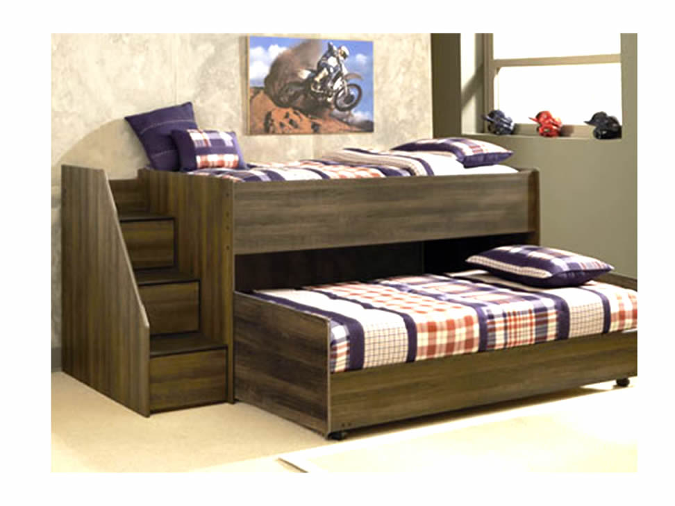 Ashley cama studio con cama baja nogal liverpool es parte for Muebles y camas infantiles