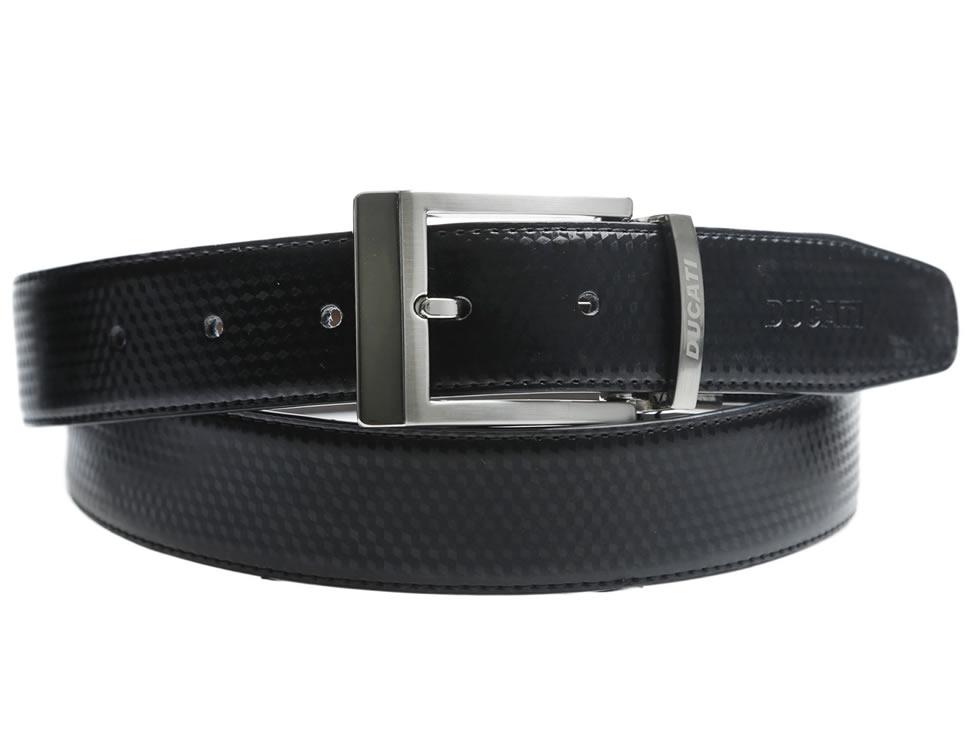 Ducati Cinturón de Piel Negro 3f63be95dd10